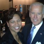 Angelia Bibbs-Sanders and United States Vice President Joe Biden